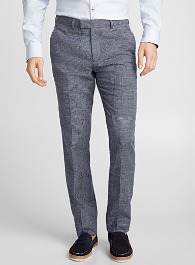 Indigo Prince of Wales pant <br>Slim fit