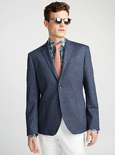 Faux-denim chambray jacket  Semi-slim fit