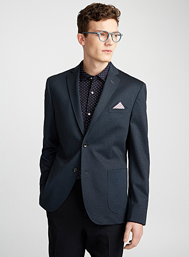 Faux-denim jacket <br>Semi-slim fit