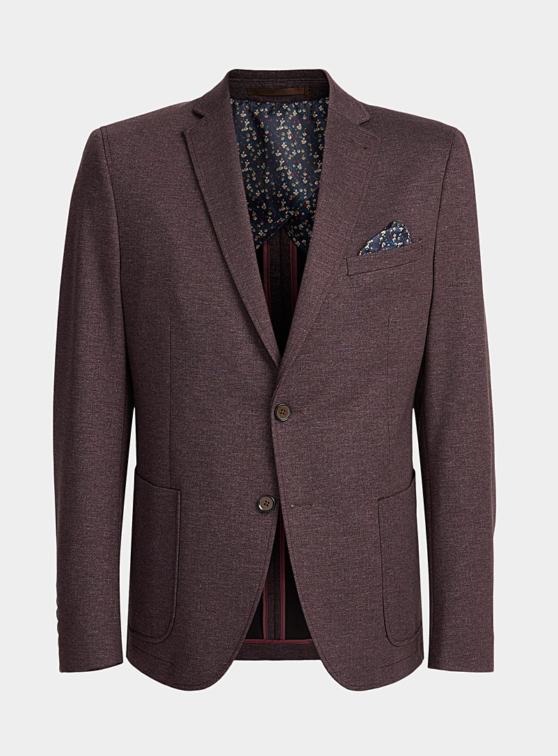 Bosco Ruby Red Dark chambray jacket  Semi-slim fit for men