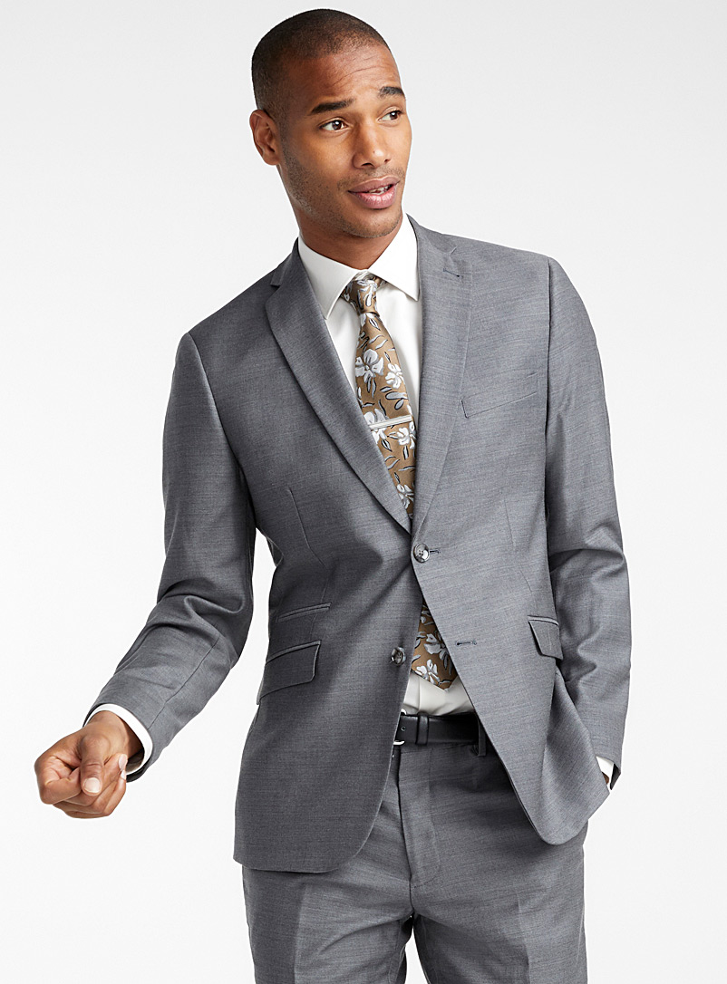 4-season wool suit  London fit - Semi-slim - Semi-slim Fit - Grey