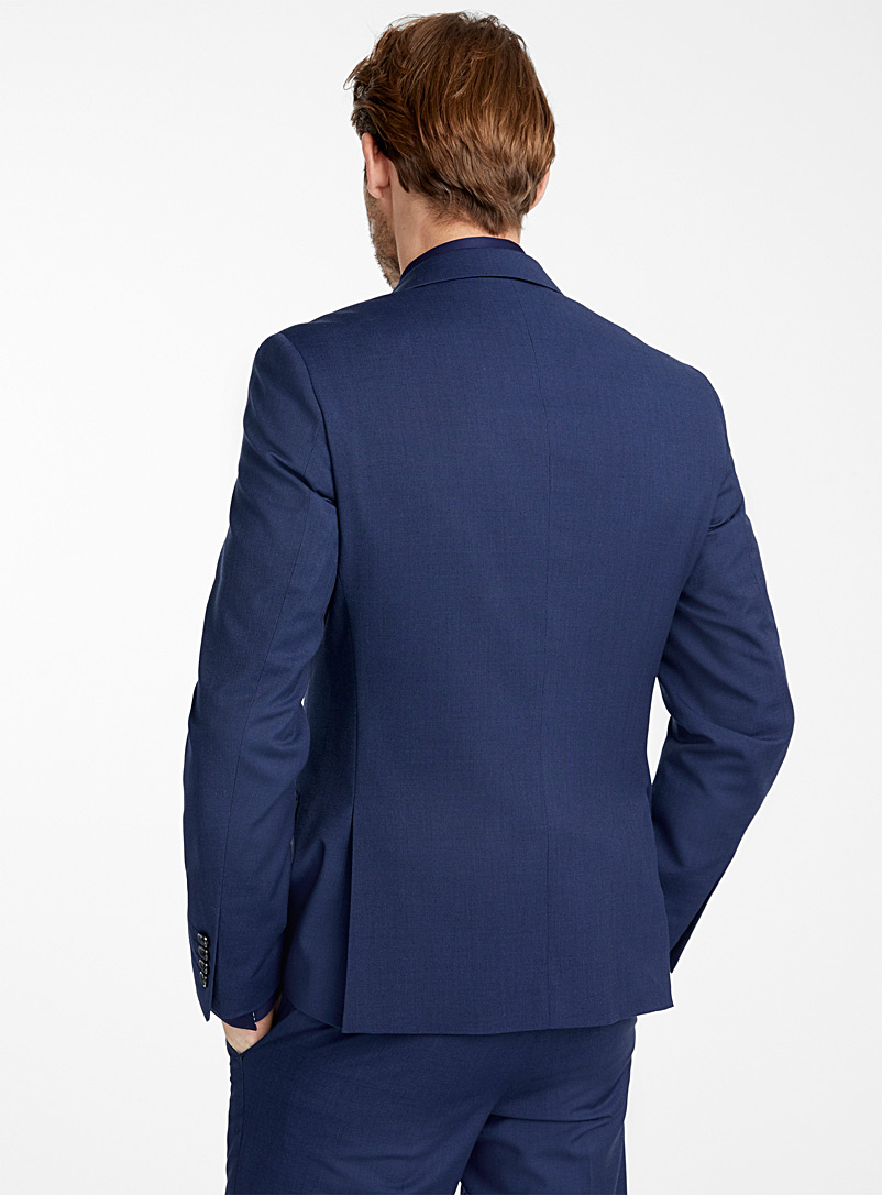 Le 31 Dark Blue Semi-plain textured suit  London fit - Semi-slim for men