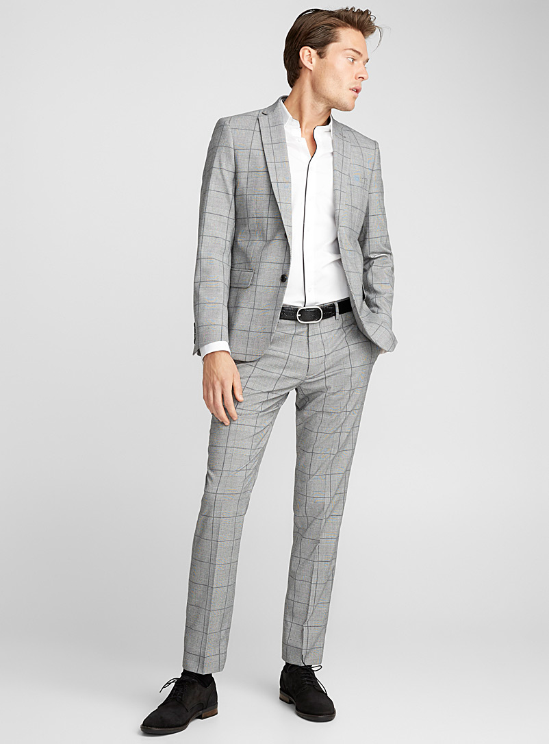 fed6d2595fc Prince of Wales suit Semi-slim fit