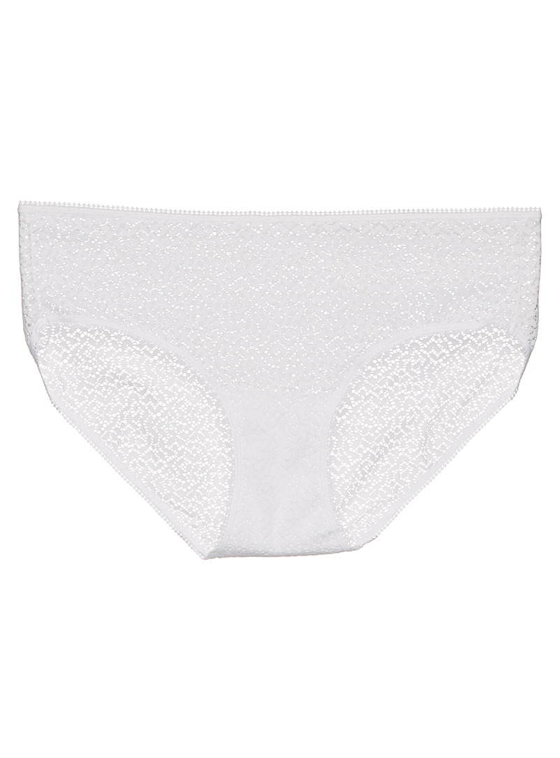 Modern lace hipster - Hipsters - White