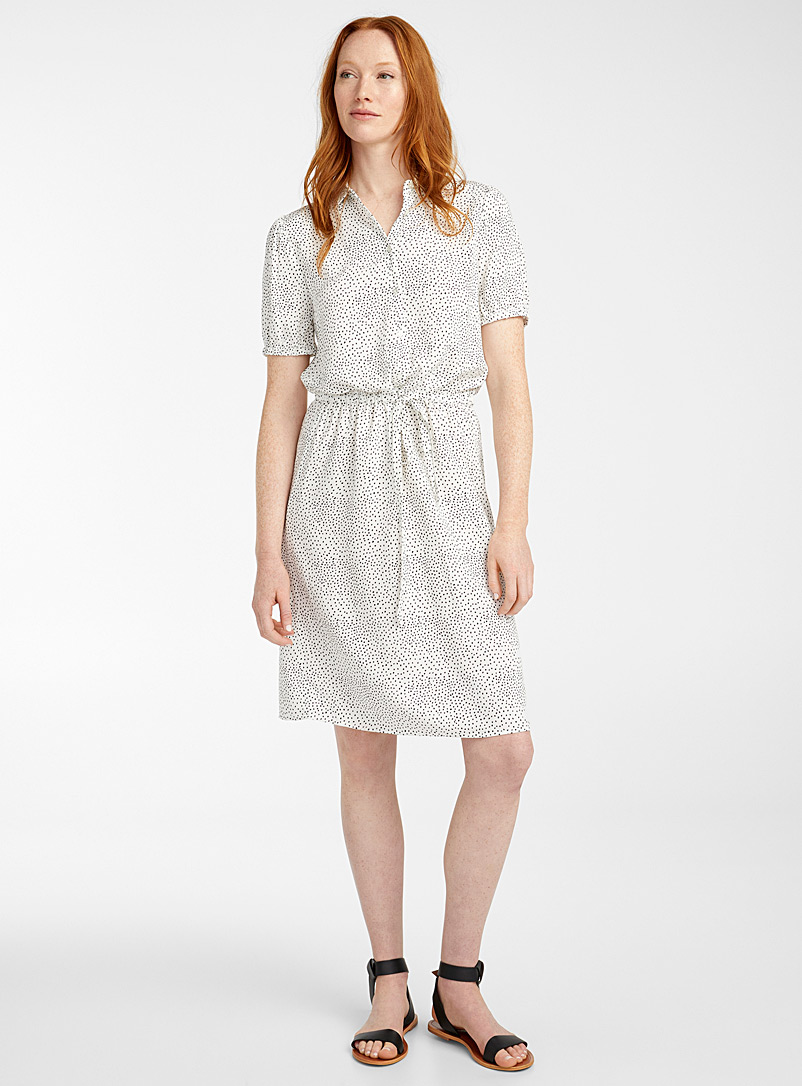 Soyaconcept Black and White Delicate dot shirtdress for women