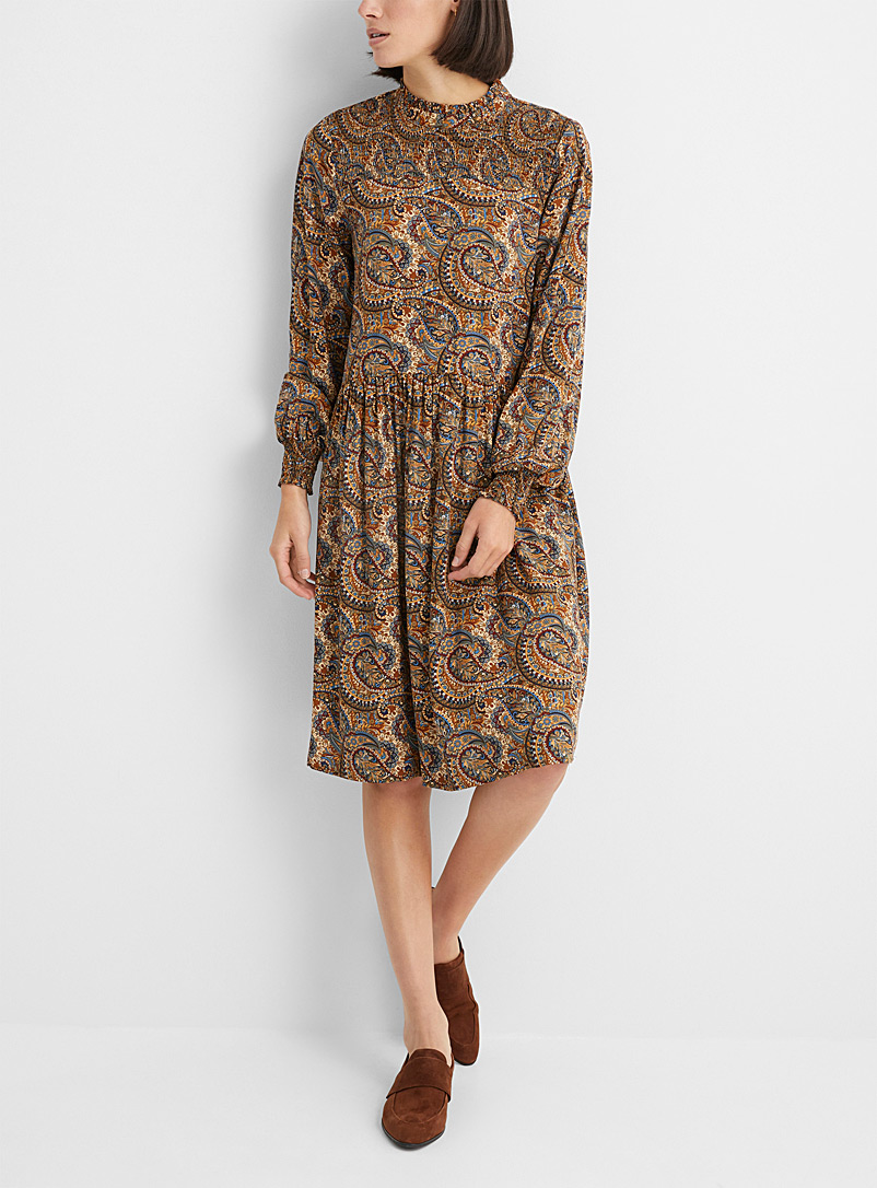 Soyaconcept Assorted Opulent paisley ruched dress for women
