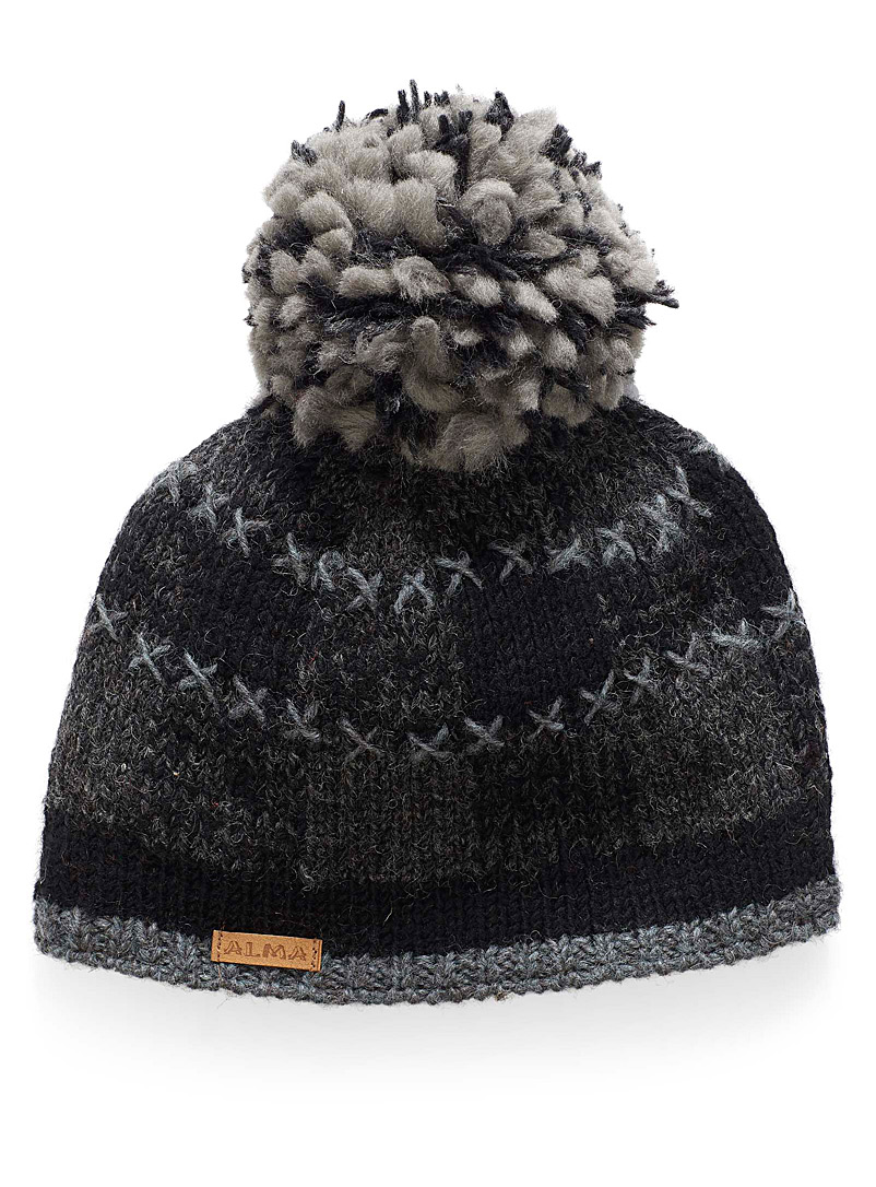 checkered-knit-tuque