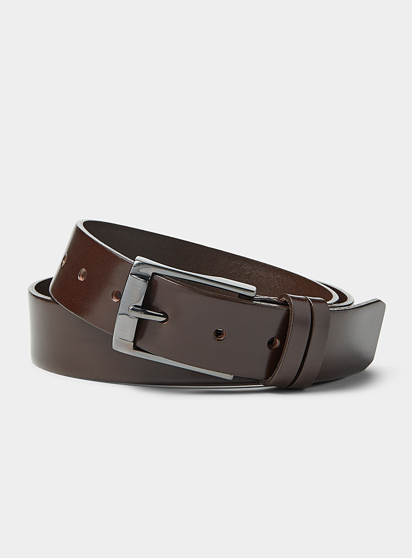 Leather belt - Dressy - Brown