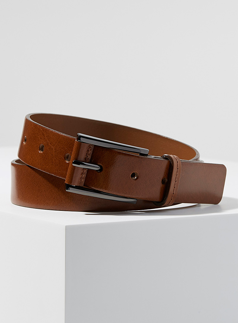 Supple Italian leather belt - Belts & Suspenders - Fawn