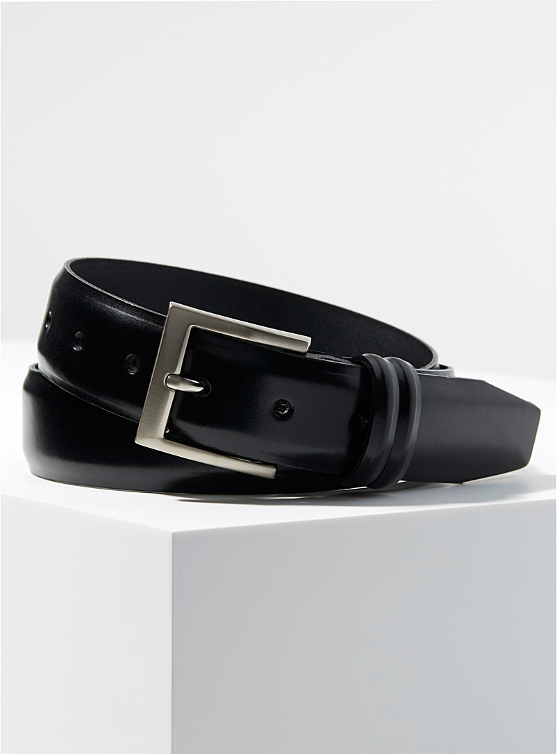Le 31 Fawn Leather dress belt for men