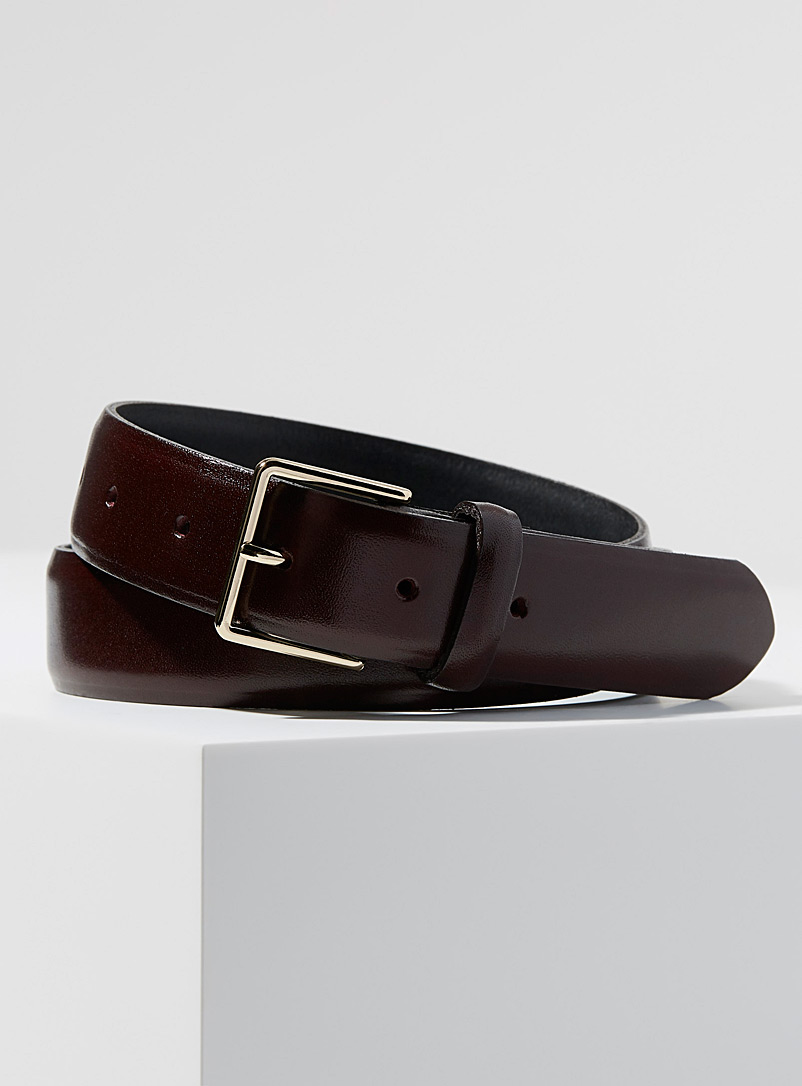 Le 31 Ruby Red Dressy skinny belt for men