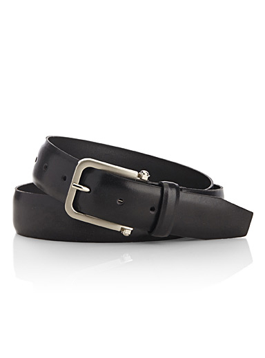 Bolt buckle leather belt