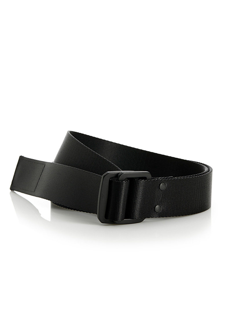 Minimalist black strap belt - Casual - Black