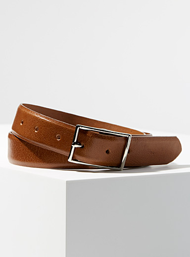 Soft minimalist leather belt