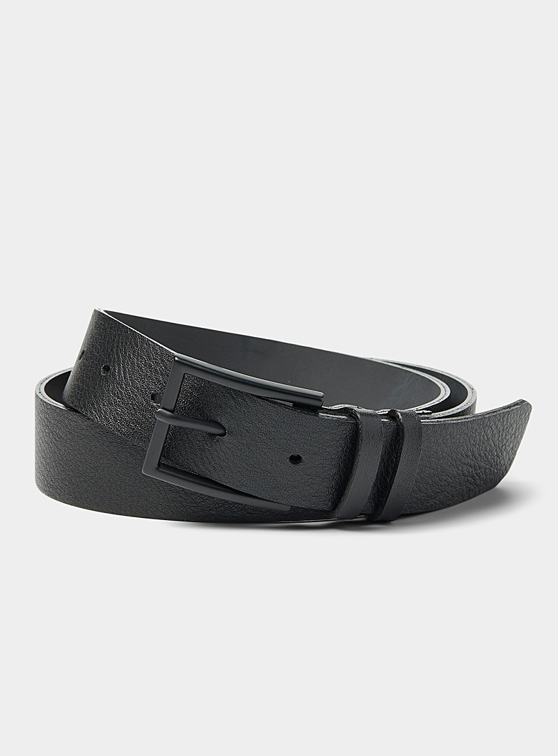 Le 31 Black Matte-buckle belt for men