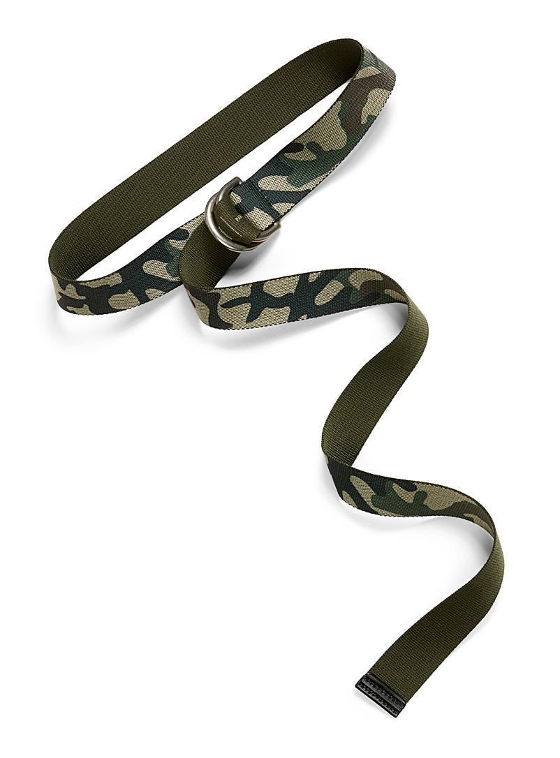 Camo weave belt - Casual - Mossy Green