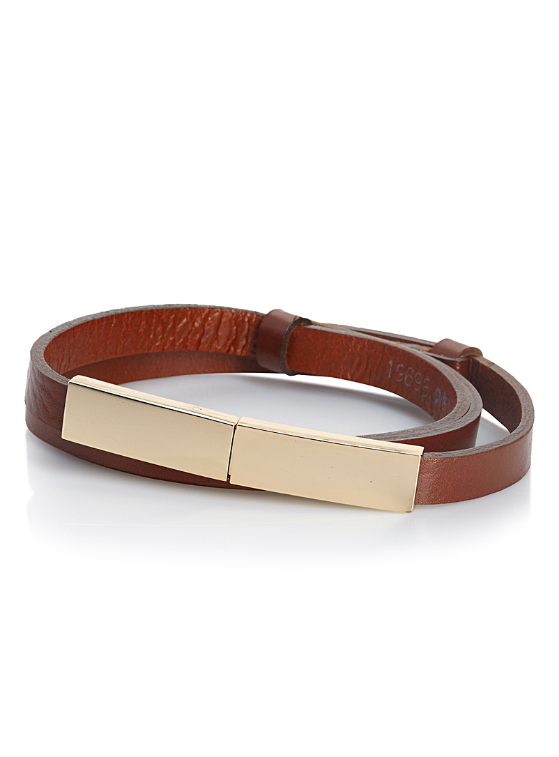 Adjustable skinny belt - Belts - Brown