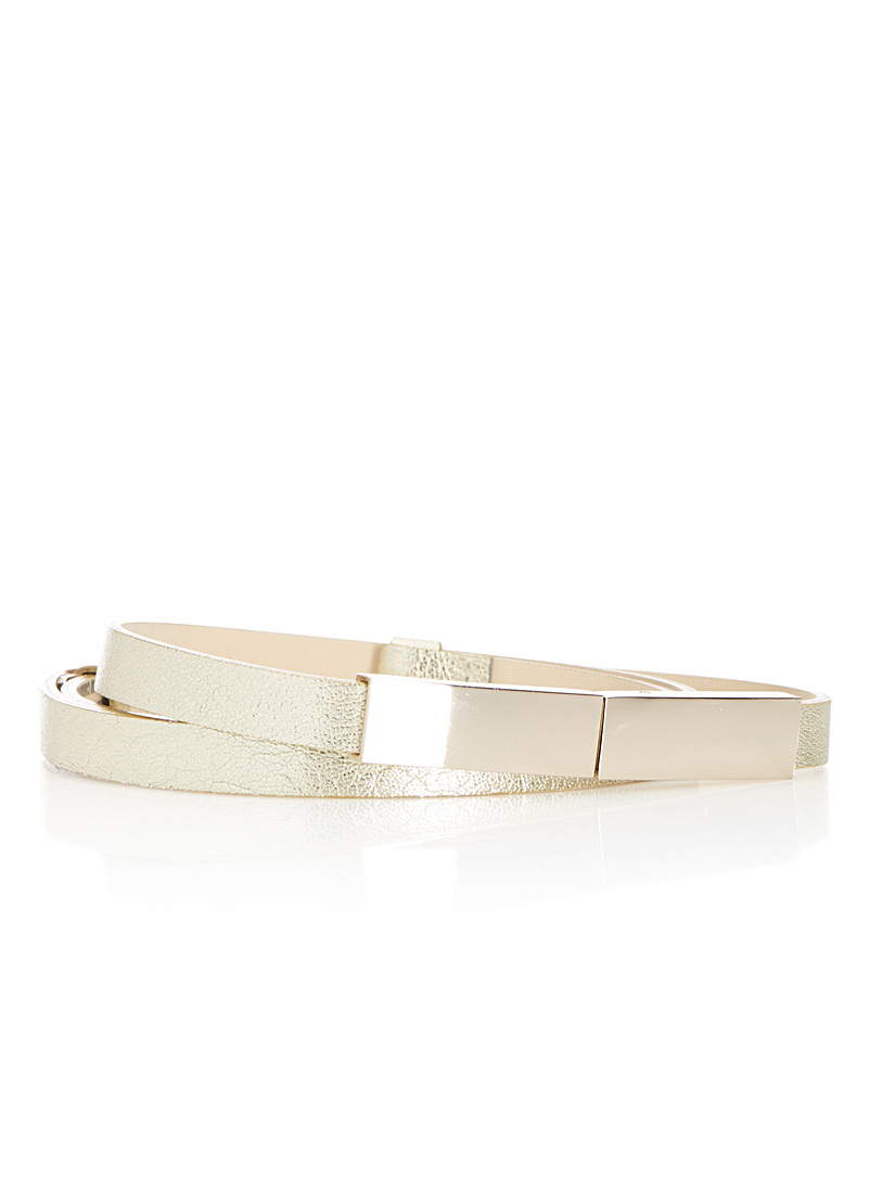 Adjustable skinny belt - Belts - Light Yellow