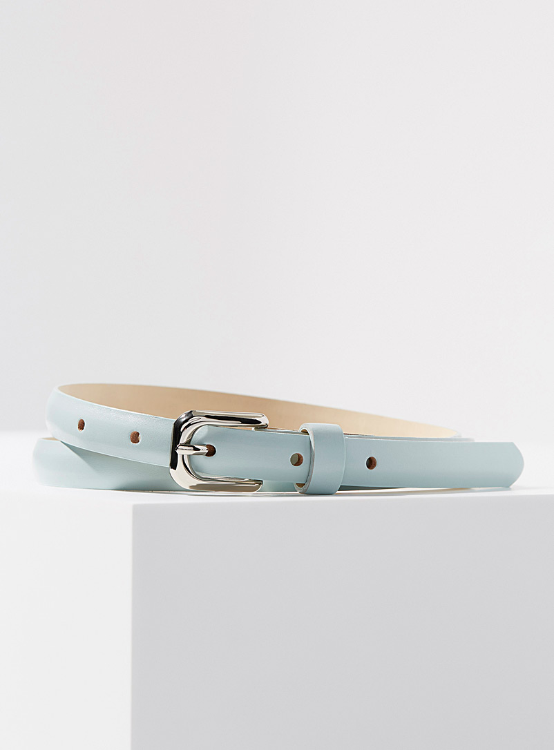 Simons Lime Green Fine matte leather belt for women