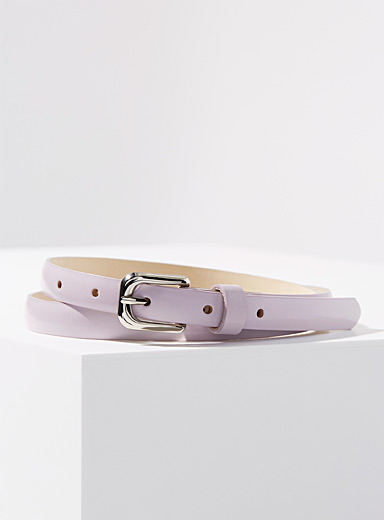 Simons Lilacs Fine matte leather belt for women