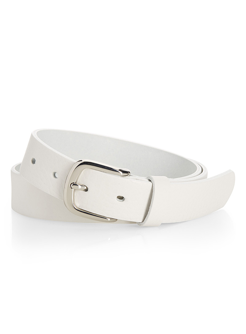Italian leather belt - Belts - White