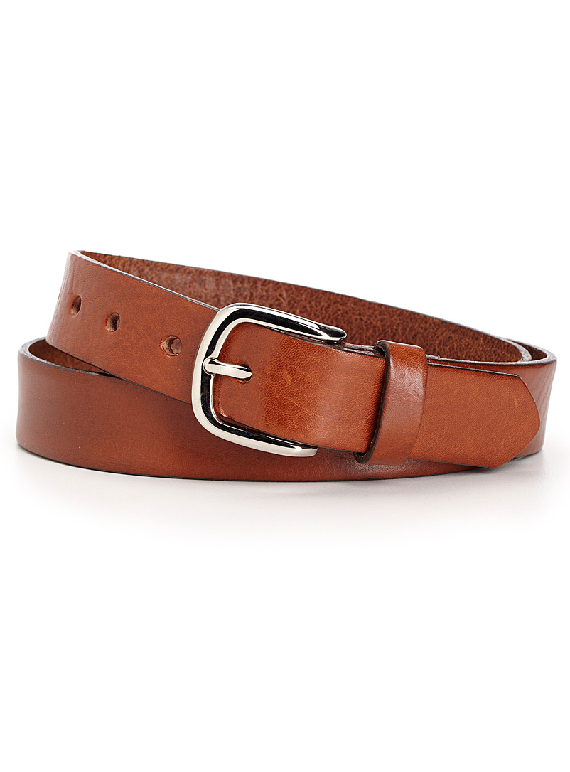 Simons Brown Essential leather belt for women