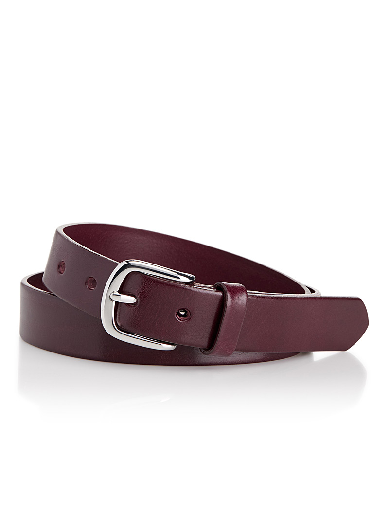 Italian leather belt - Belts - Cherry Red