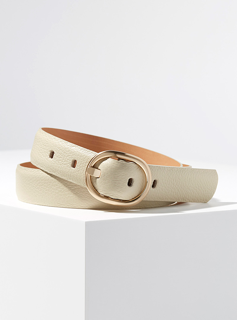 Simons Marine Blue Gold oval buckle belt for women