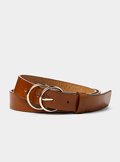 Simons Fawn Double buckle belt for women