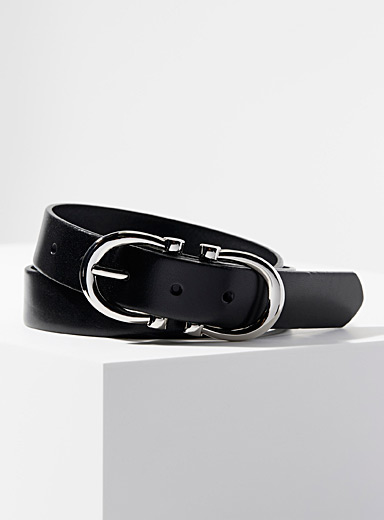 Horseshoe leather belt