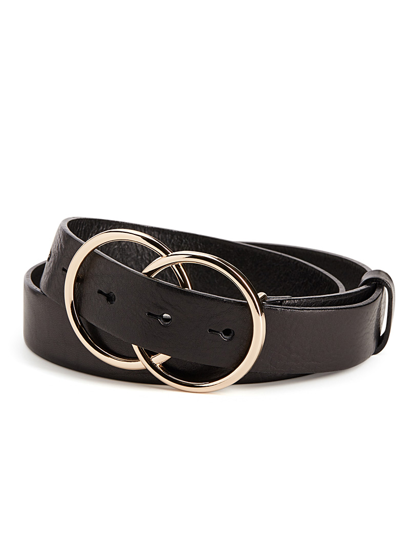 Double ring belt - Belts - Black