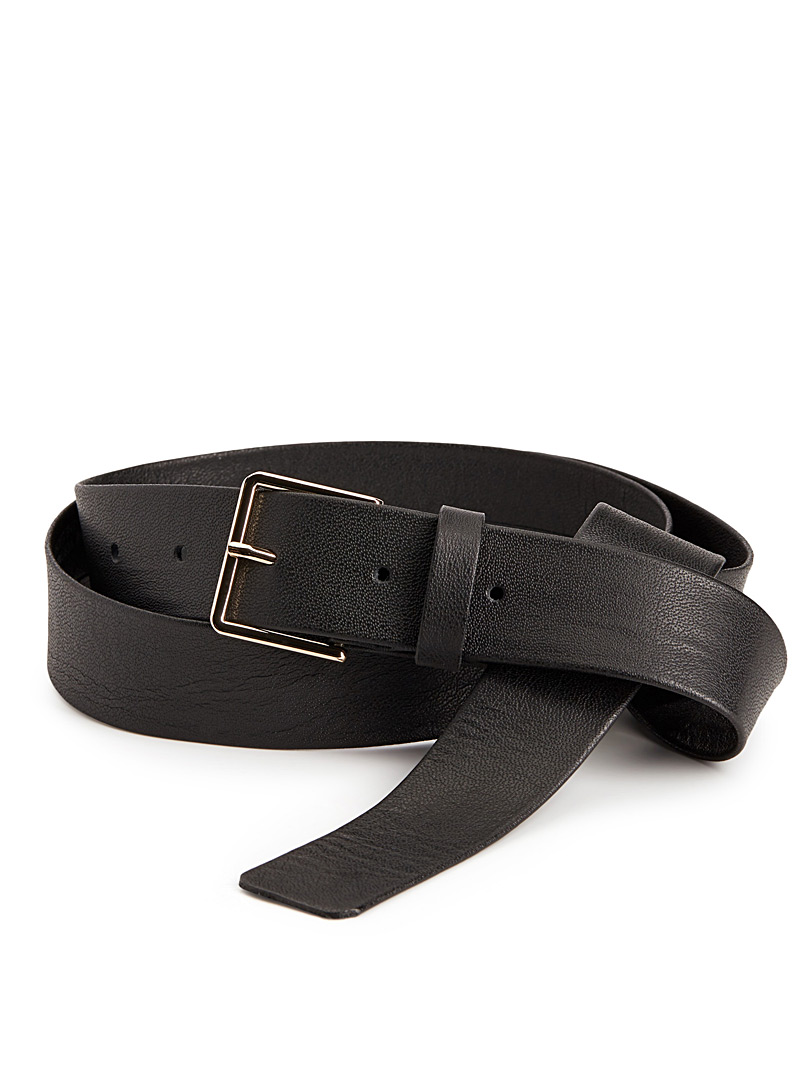 Ultra soft boyfriend belt - Belts - Black