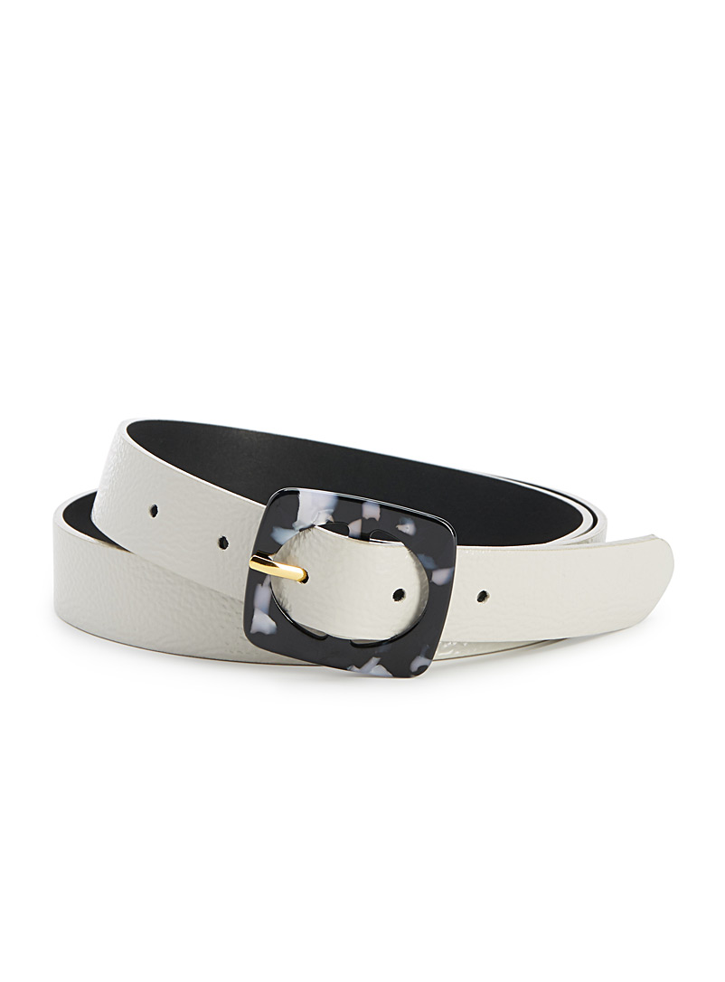 Patterned buckle belt - Belts - Silver