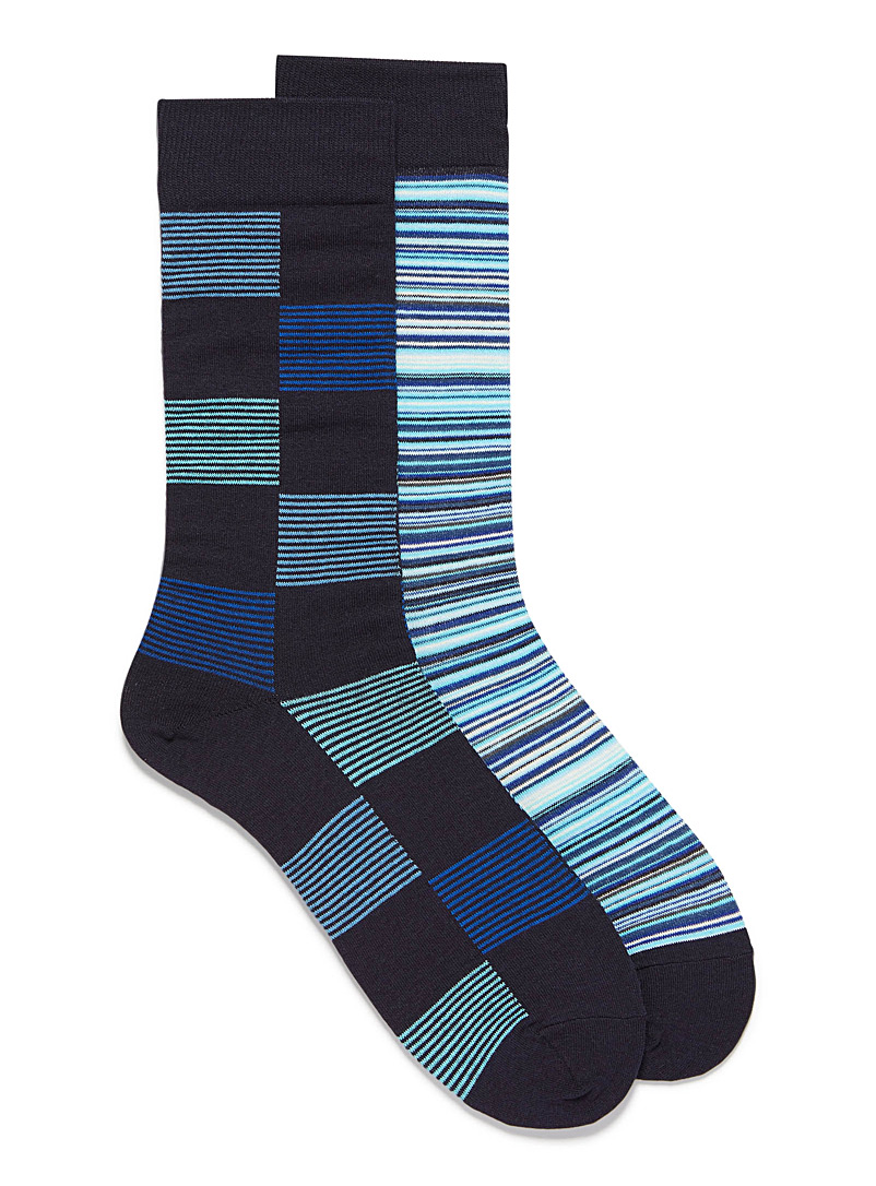 Multi-stripe sock 2-pack