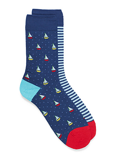 Sailboat sock 2-pack