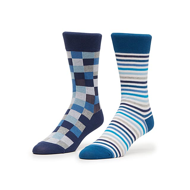 checkerboard-and-graphic-stripe-sock-2-pack