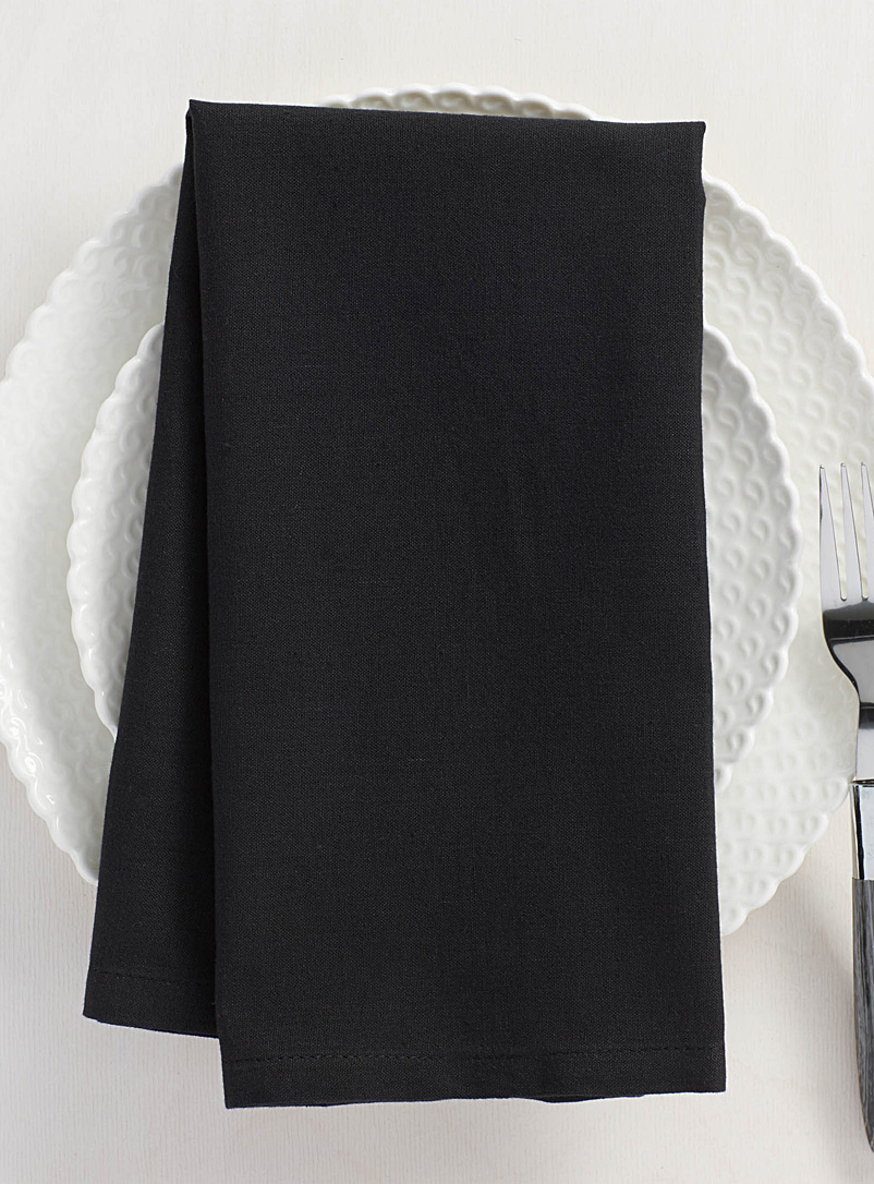 100% cotton black napkin