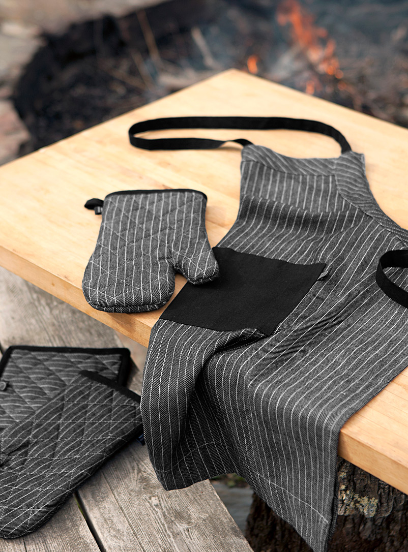 Masculine stripe accessories - Aprons & Oven Mitts - Assorted