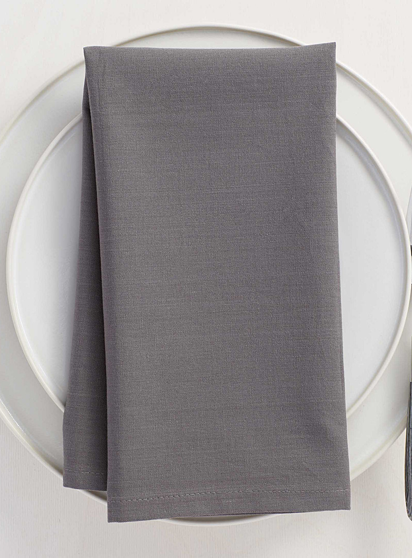 100% cotton charcoal napkin