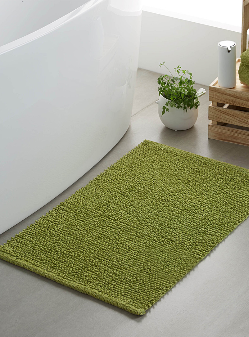Looped bath mat  50 x 80 cm - Solid - Lime Green
