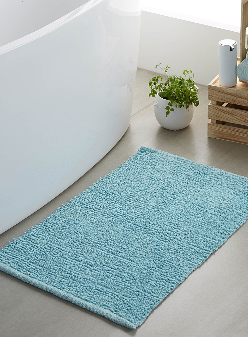 Looped bath mat  50 x 80 cm - Solid - Baby Blue