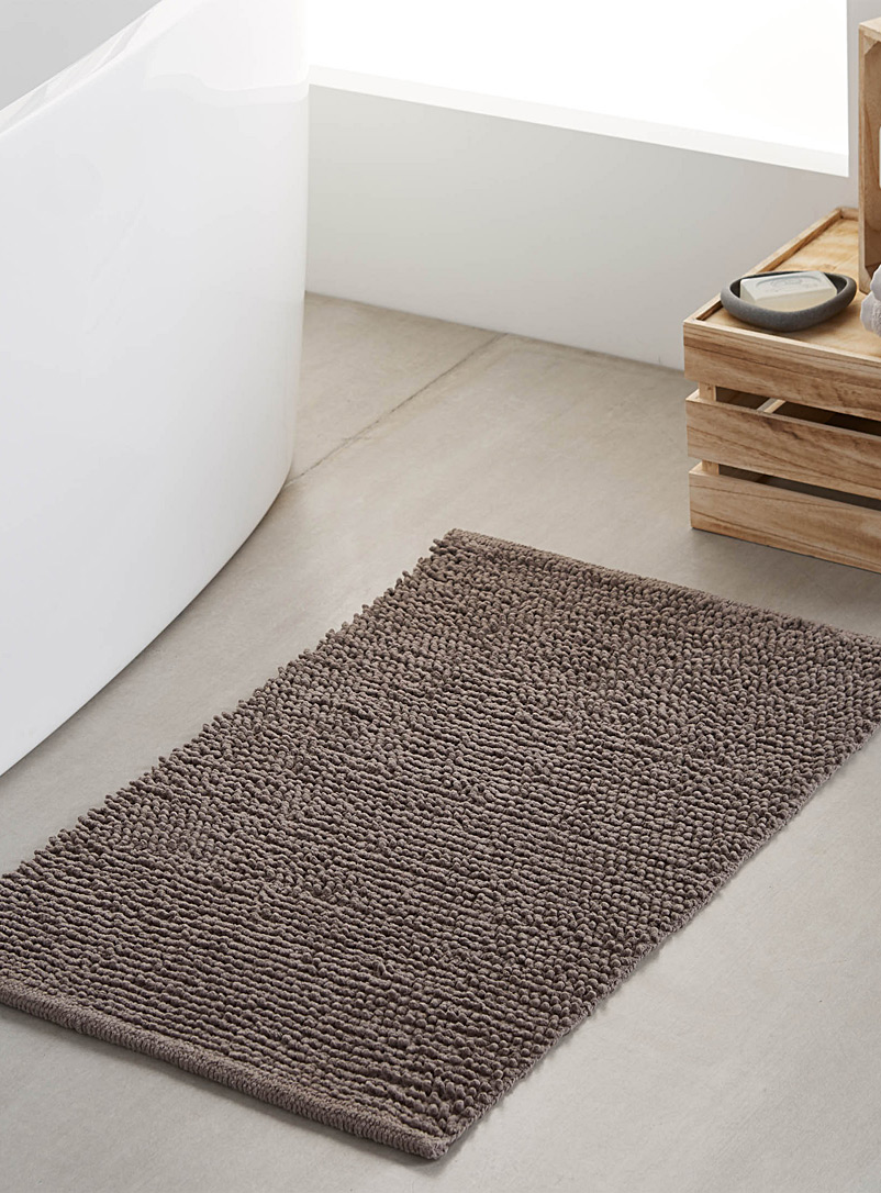 Looped bath mat  50 x 80 cm - Solid - Dark Grey