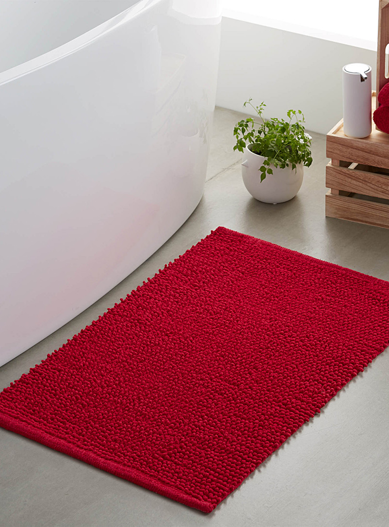 Looped bath mat  50 x 80 cm - Bath Rugs - Bright Red