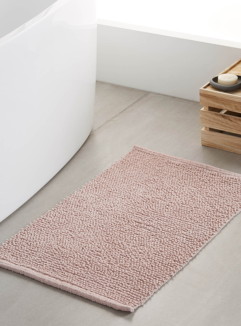 Looped bath mat  50 x 80 cm - Solid - Dusky Pink