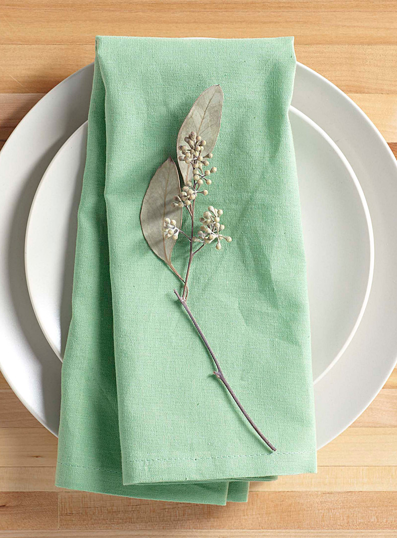 Pure cotton green napkin - Solid - Lime Green