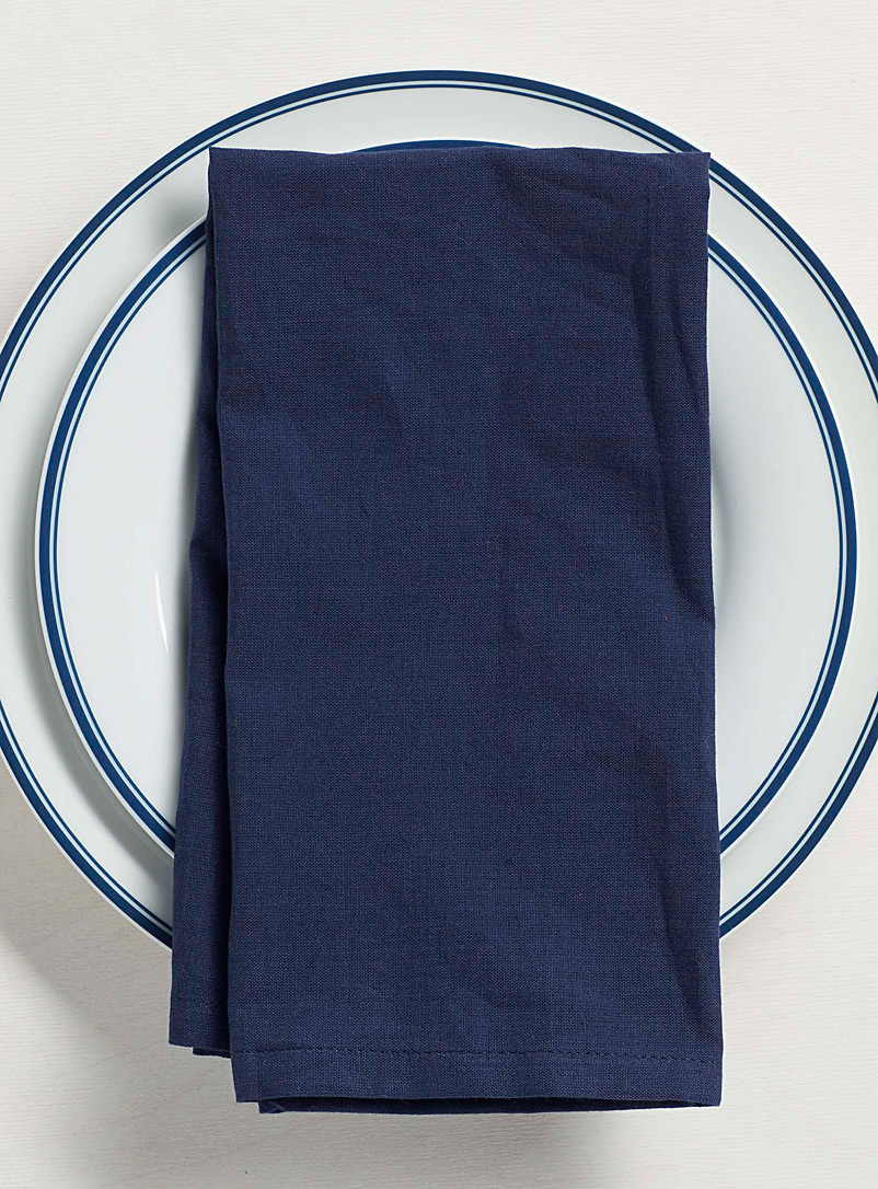 Simons Maison Marine Blue Sea breeze organic cotton napkin