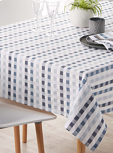 Denim check tablecloth