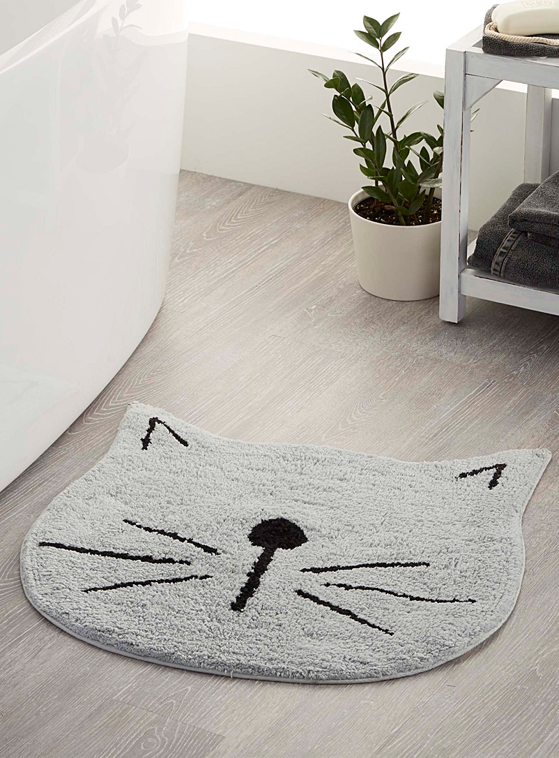 Simons Maison Light Grey Soft kitten bath mat  60?cm diameter