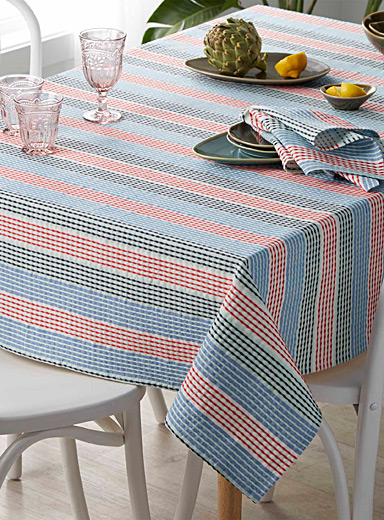 Seaside stripe tablecloth