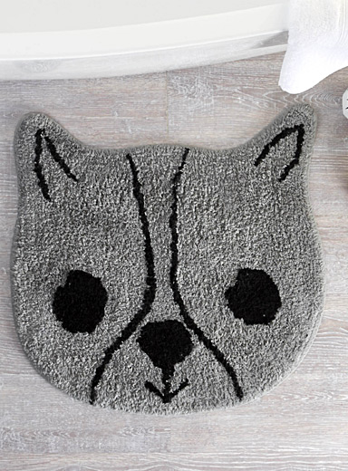 Adorable dog bath mat  60 cm diameter